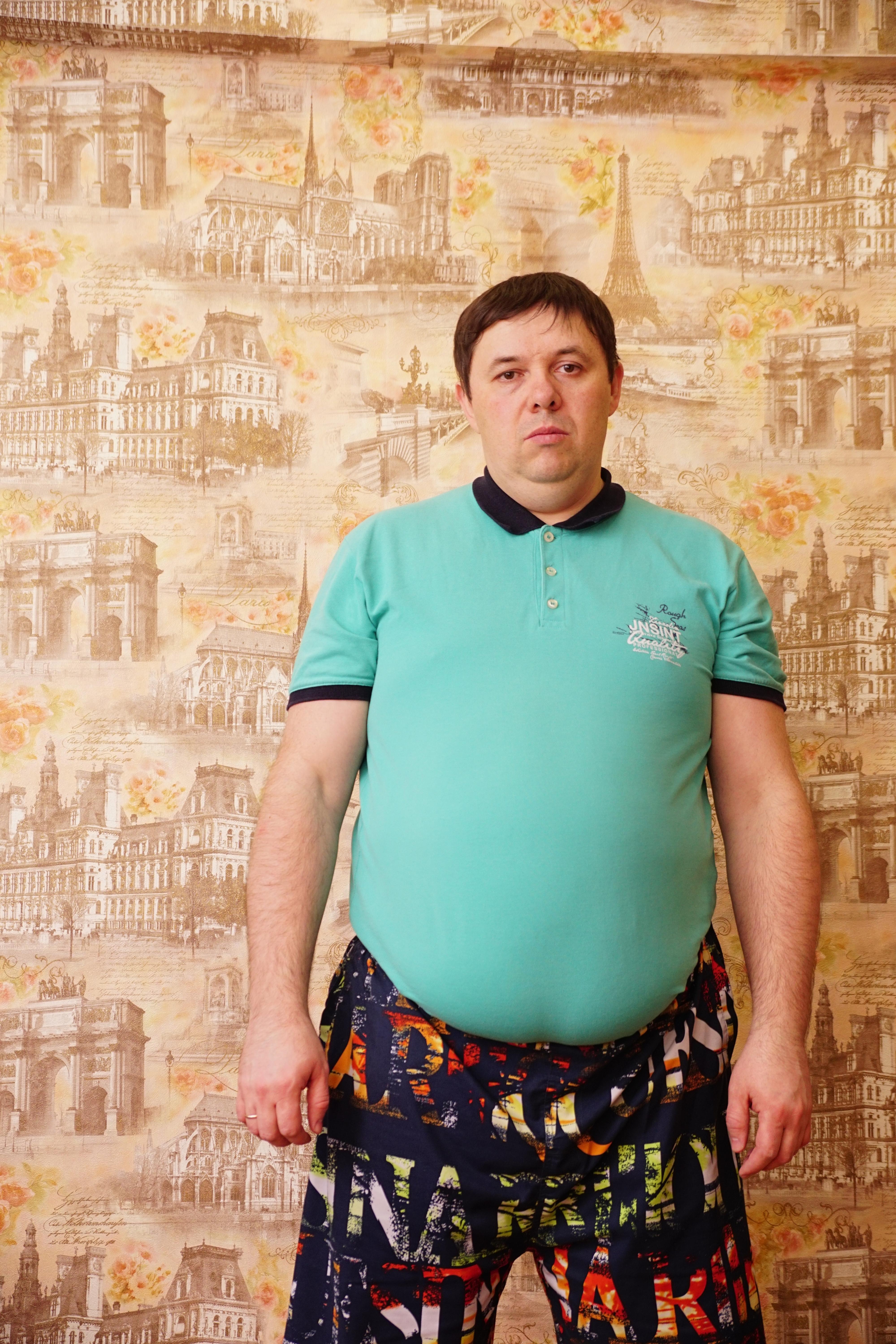 Андрей до похудения. 119 кг