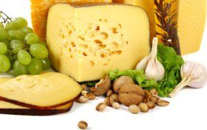 продукты для правильного питания для похудения сыр орехи таблица